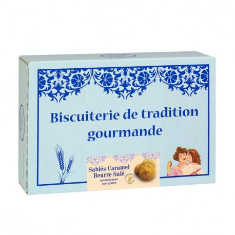 Sablés Caramel beurre salé sans gluten - Boîte carton 300g