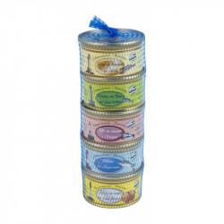 Lot de 5 rillettes de poissons 130 g