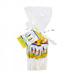 12 sucettes au caramel au beurre salé au sel de Guérande - 180g