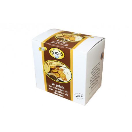 Palets chocolat caramel - boîte de 400g