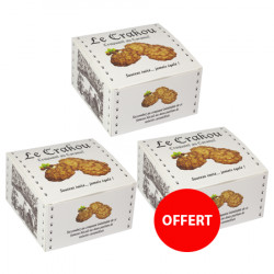 2 boîtes de crakou caramel achetés, la 3ème OFFERTE
