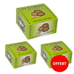 2 boîtes de crakou pistache achetés, la 3 ème OFFERTE