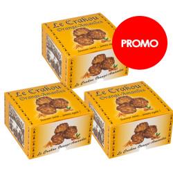 PROMO : 3 boîtes de Crakou - Orange amandes