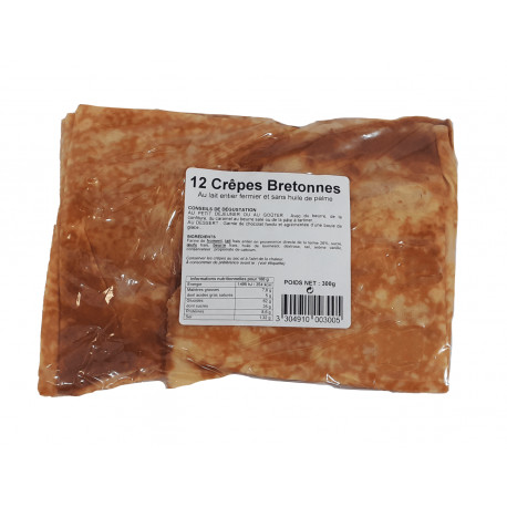 Sachet 12 crêpes bretonnes