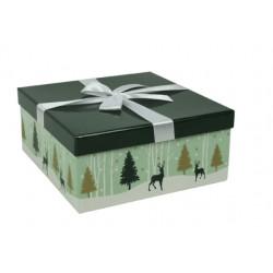 """Grande boîte à couvercle """" Forêt enneigée"""""""