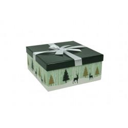 """Petite boîte à couvercle """" Forêt enneigée"""""""